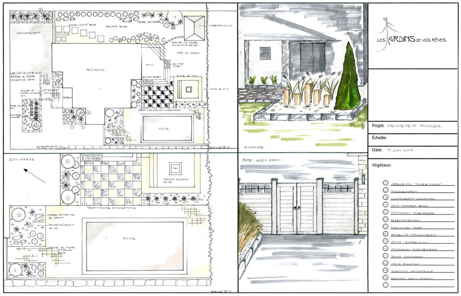 Plan amenagement paysager id es de - Amenagement buanderie photos plans ...